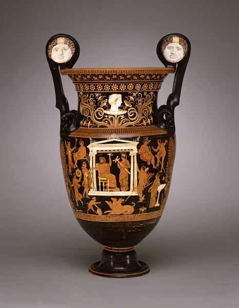 Volute Krater Mixing Vessel With Dionysus Visiting Hades And
